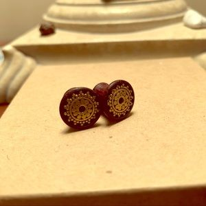 0g Brass Inlay Wooden Plugs🌸